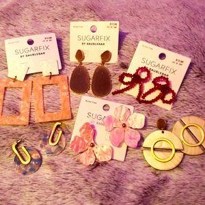 Lot of 6 Earrings BaubleBar NEW Sugarfix Bundle